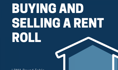 buying and selling a rent roll LPMA 2019