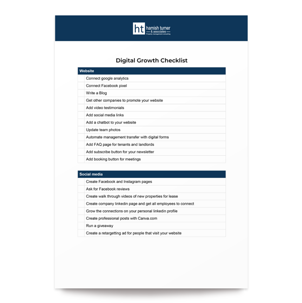 Online Growth Checklist