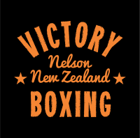 Victory Boxing Retro Logo Black background